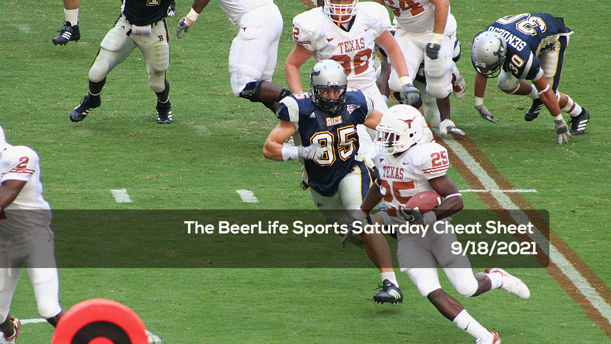 The BeerLife Sports Saturday Cheat Sheet - 9:18:2021