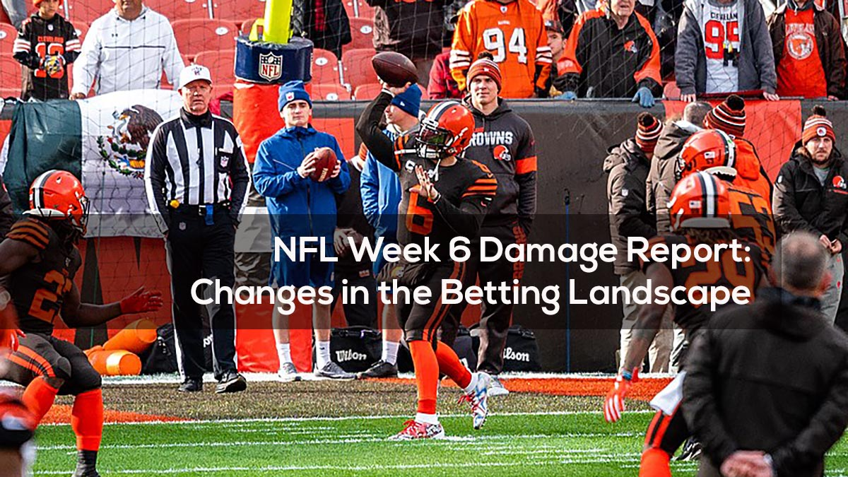 NFL Week 6 Damage Report- Changes in the Betting Landscape