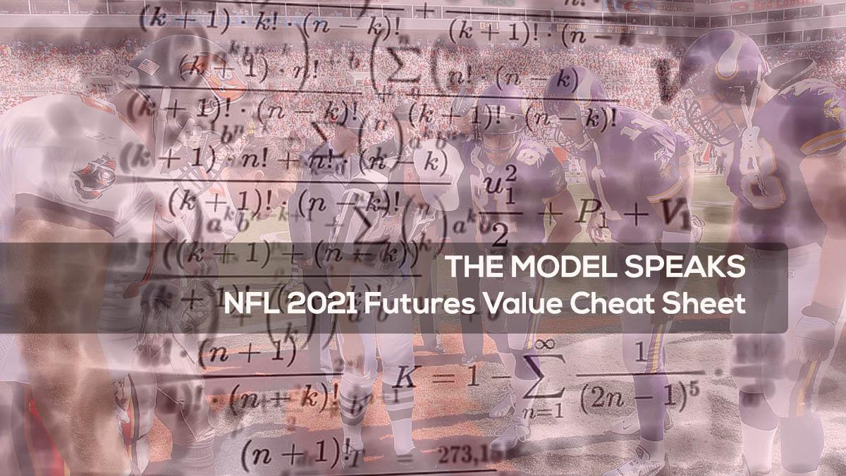 THE MODEL SPEAKS NFL 2021 Futures Value Cheat Sheet